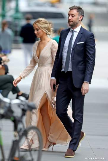 Jennifer Lawrence in L. Wells Bridal Fall 2019-2