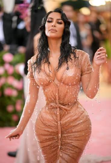 Kim Kardashian in Mugler and Kanye West in Dickies-1