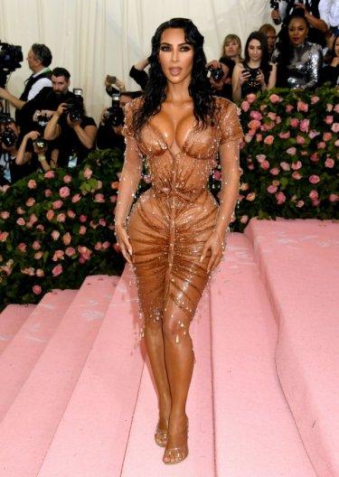 Kim Kardashian in Mugler and Kanye West in Dickies-2