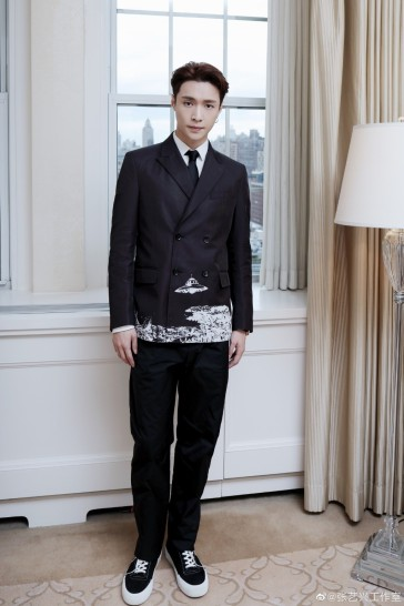 Lay Zhang in Valentino Fall 2019 Menswear