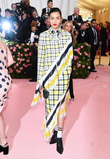Liu Wen in Thom Browne