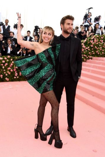 Miley Cyrusin Saint Laurent with Liam Hemsworth-3