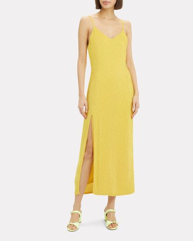 Retrofete Rebecca Metallic Sequin Slip Dress