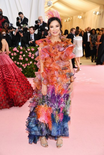 Wendi Deng Murdoch in Mary Katrantzou Fall 2019