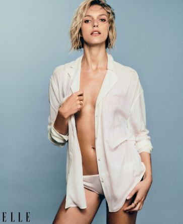 Anja Rubik for ELLE US July 2019-2
