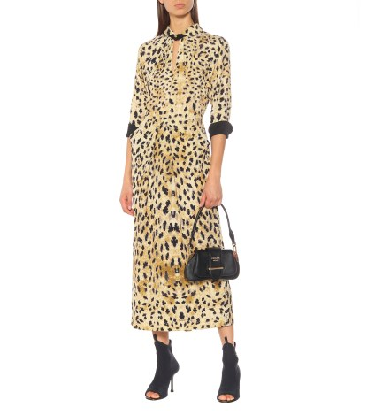 Prada Leopard-printed Sablé Dress