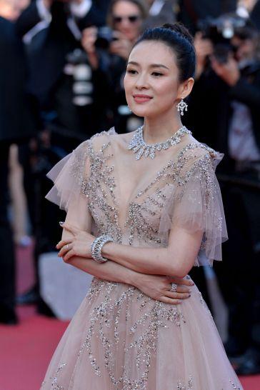 Zhang Ziyi in Monique Lhuillier Fall 2018-10