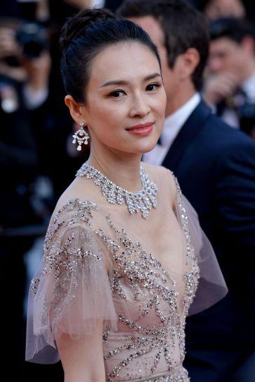 Zhang Ziyi in Monique Lhuillier Fall 2018-11