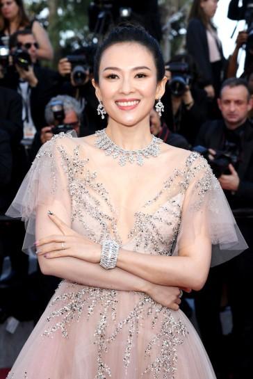 Zhang Ziyi in Monique Lhuillier Fall 2018-2