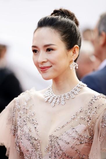 Zhang Ziyi in Monique Lhuillier Fall 2018-8
