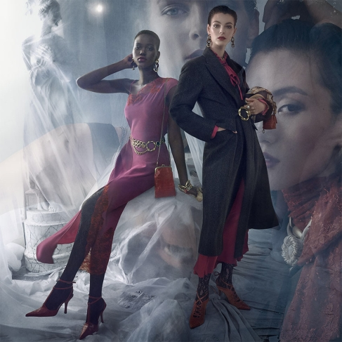 Vittoria Ceretti Julia Nobis Adut Akech Karolin Wolter Zara Fall 2019 Campaign-1