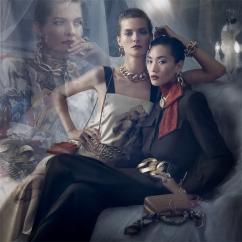Vittoria Ceretti Julia Nobis Adut Akech Karolin Wolter Zara Fall 2019 Campaign-4