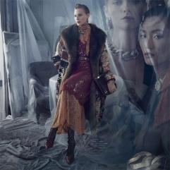 Vittoria Ceretti Julia Nobis Adut Akech Karolin Wolter Zara Fall 2019 Campaign-6