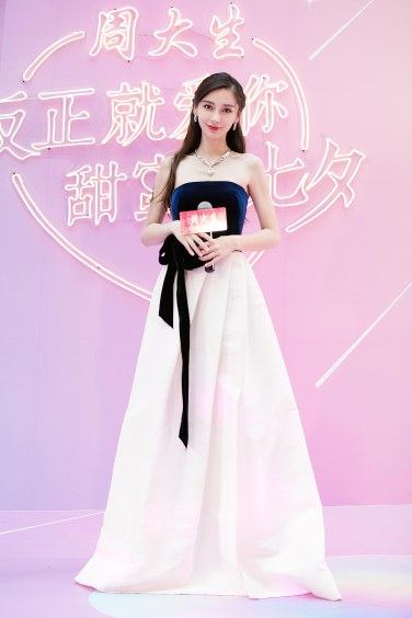 Angelababy in Monique Lhuillier Fall 2019-1