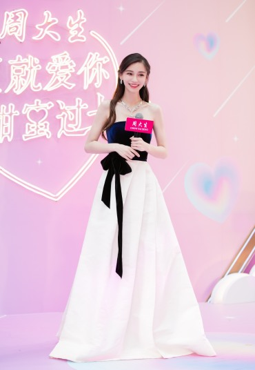 Angelababy in Monique Lhuillier Fall 2019-8