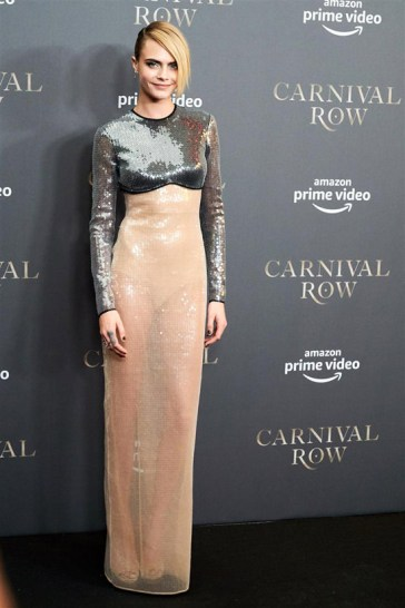 Orlando Bloom and Cara Delevigne Attend Berlin Premiere of Carnival Row