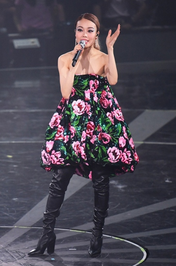 Joey Yung in Richard Quinn Fall 2019
