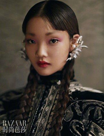 Lina Zhang & Bomi Youn & Tominaga Ai for Harper's Bazaar China September 2019-10