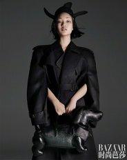 Lina Zhang & Bomi Youn & Tominaga Ai for Harper's Bazaar China September 2019-11