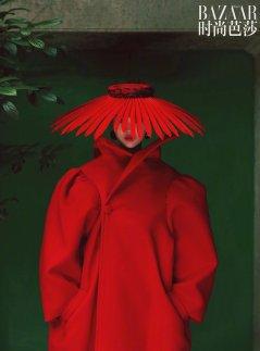 Lina Zhang & Bomi Youn & Tominaga Ai for Harper's Bazaar China September 2019-12