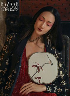 Lina Zhang & Bomi Youn & Tominaga Ai for Harper's Bazaar China September 2019-16