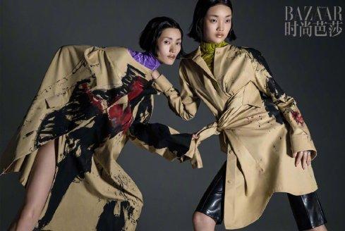 Lina Zhang & Bomi Youn & Tominaga Ai for Harper's Bazaar China September 2019-18
