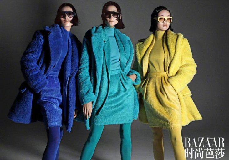 Lina Zhang & Bomi Youn & Tominaga Ai for Harper's Bazaar China September 2019-23