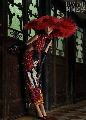 Lina Zhang & Bomi Youn & Tominaga Ai for Harper's Bazaar China September 2019-5