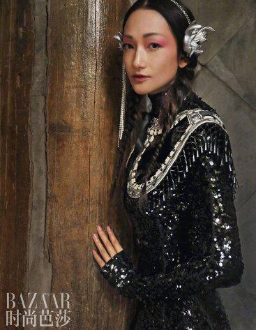 Lina Zhang & Bomi Youn & Tominaga Ai for Harper's Bazaar China September 2019-7