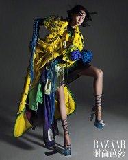 Lina Zhang & Bomi Youn & Tominaga Ai for Harper's Bazaar China September 2019-9