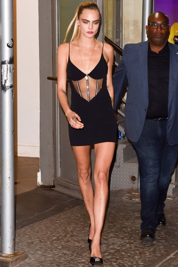 Cara Delevingne Is Seen Leaving A Studio In Soho New York