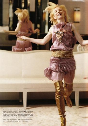 Cate Blanchett X Karl Lagerfeld Vogue Australia December 2003-10