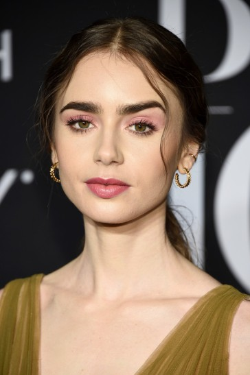 Lily Collins in Georges Hobeika Fall 2019 Couture-4