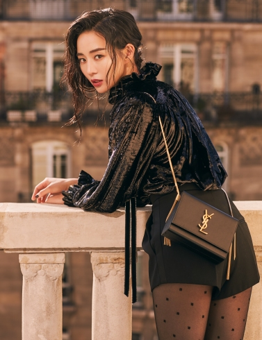 Ning Zhang in Saint Laurent Fall 2019-4