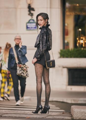 Ning Zhang in Saint Laurent Fall 2019-5