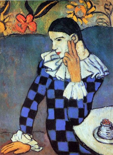 Pablo Picasso Harlequin Pensativo 1901