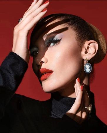 Bella Hadid Dior Halloween 2019 Makeup Campaign-1