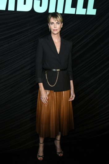 Charlize Theron in Givenchy Pre-Fall 2019-2