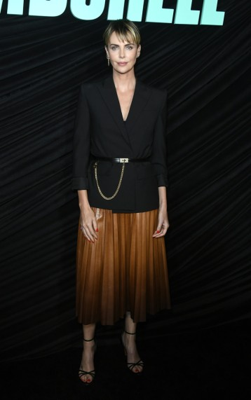 Charlize Theron in Givenchy Pre-Fall 2019