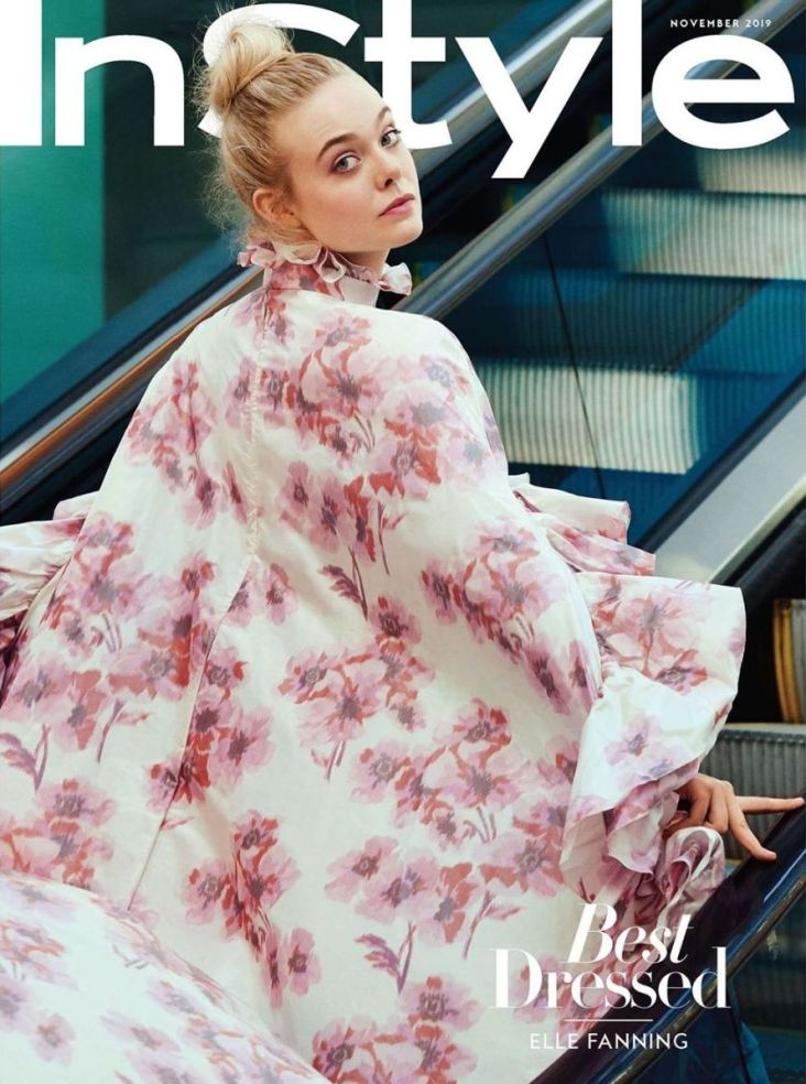 Elle Fanning InStyle November 2019 Cover B