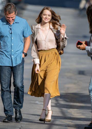 Emma Stone at 'Kimmel'