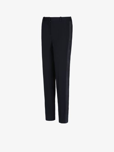 Givenchy TUXEDO CIGARETTE PANTS WITH SATIN BAND
