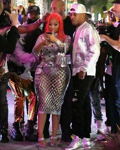 Nicki Minaj in Fendi Print On Collection-7