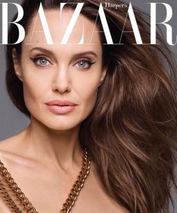 Angelina Jolie for Harper's Bazaar US December 2019 Cover A