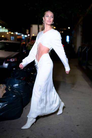 Candice Swanepoel in Christopher Esber Spring 2020-3