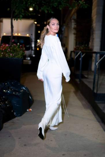 Candice Swanepoel in Christopher Esber Spring 2020-6