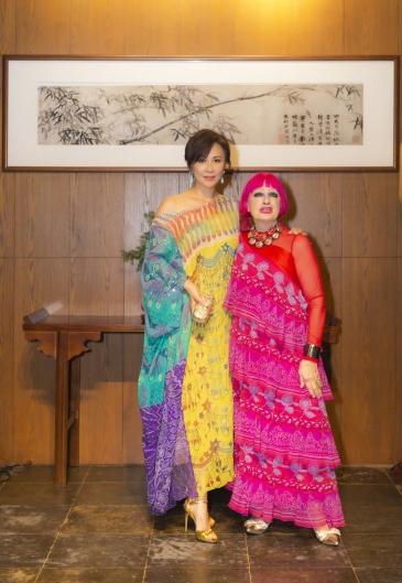 Carina Lau in Zandra Rhodes Spring 2007-8