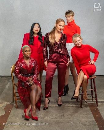 Charlize Theron& Jennifer Lopez & Renee Zellweger & Awkwafina & Cynthia Erivo X LA Times-3