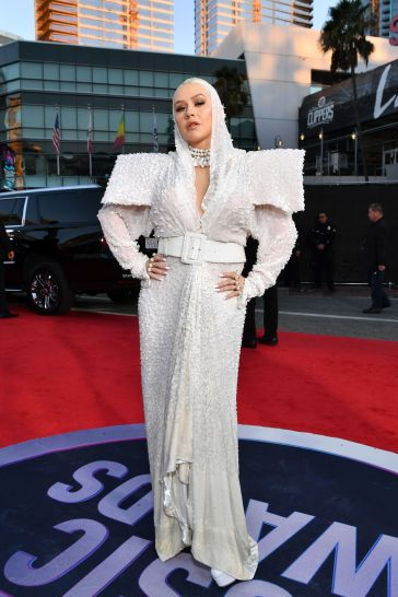 Christina Aguilera in Jean Paul Gaultier Fall 2017 Couture