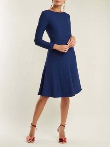 Emilia Wickstead Kate A-line wool-crepe dress